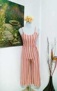 Peach stripes Jumpsuit