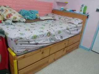 雙人床架+床褥