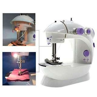 Mini Electric Sewing Machine with Bobbins and Foot Pedal