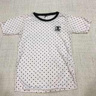 Faux Chanel polka-dot T-shirt  #BlackFriday100