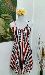 Flag color dress { red, white & blue }