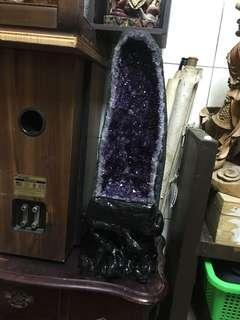 🚚 紫水晶洞(非鈦晶)招財聚財磁場強