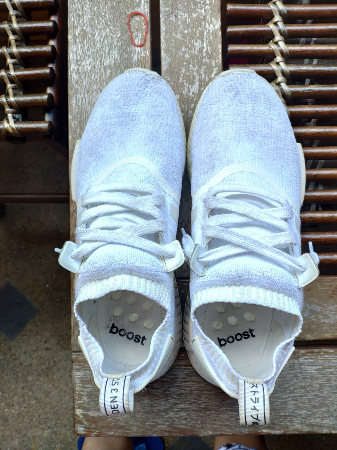 0bd0988e00a34 Adidas nmd r1 pk triple white japan