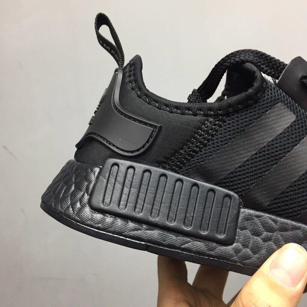 Adidas NMD R1 Triple Black, Men's Fashion, Footwear, Others