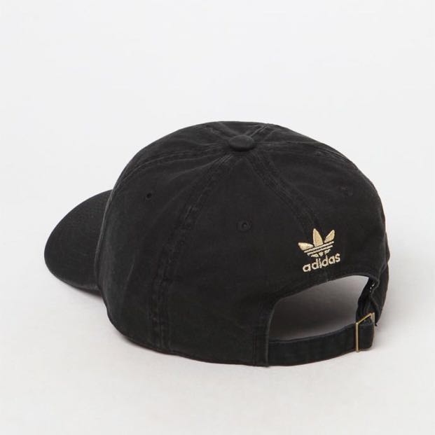 4deaa098baad9 Adidas Originals Black Gold Trefoil Cap, Men's Fashion, Accessories, Caps &  Hats on Carousell