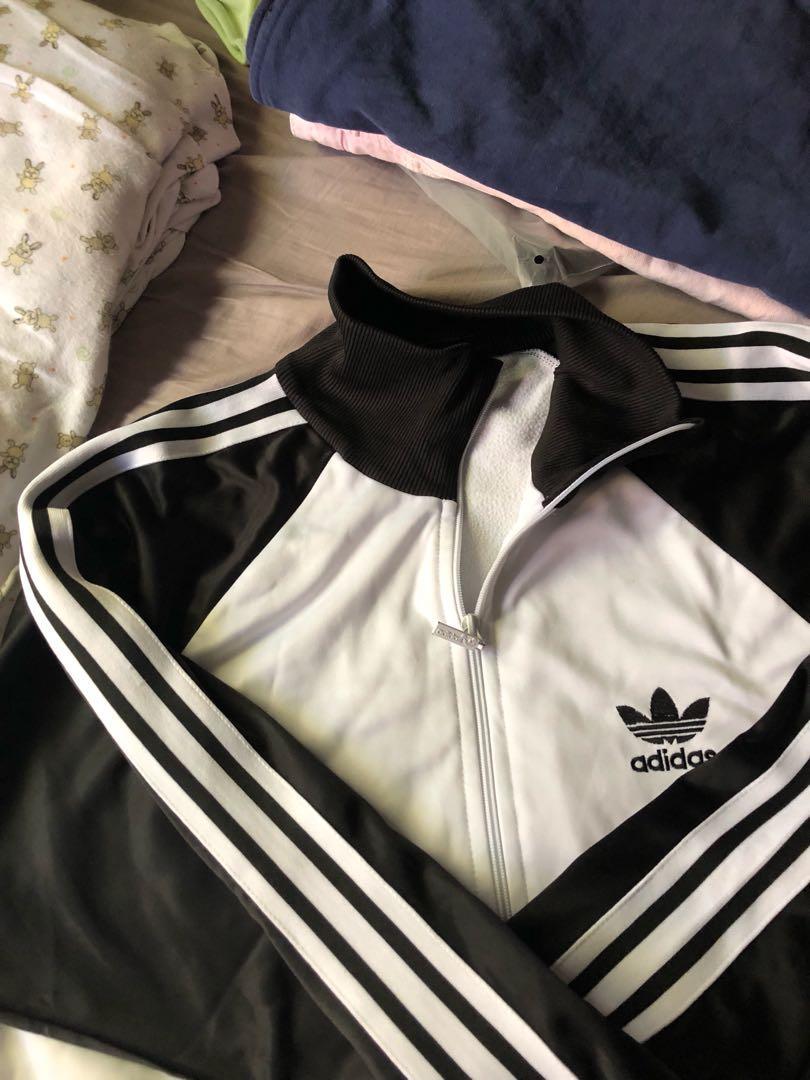 Adidas reverse black white jacket