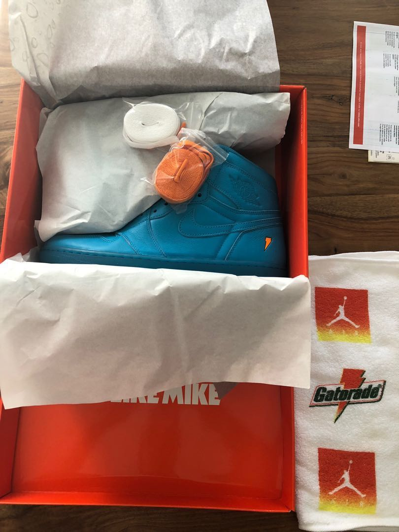 60dad4a5852e Air Jordan 1 Gatorade retro high  Cool Blue
