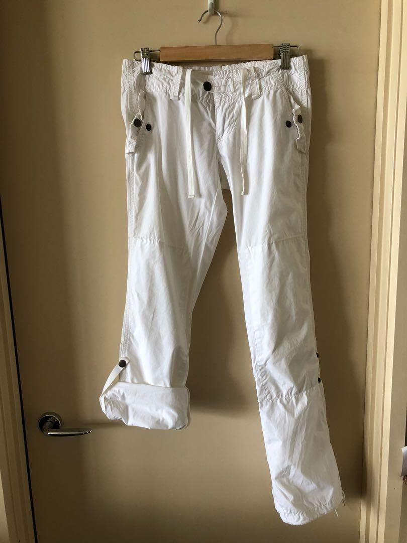 American Eagle white cotton pants, size 6-8