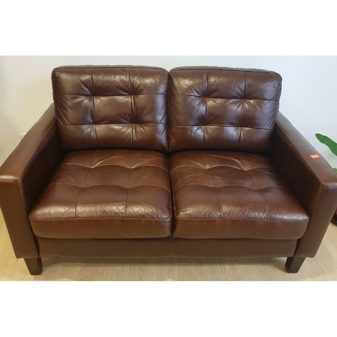 Price Slashed 3 Pieces Leather Sofa Set Sale Now At 800