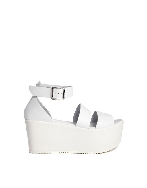 1b3988f51926 Asos White Platform Sandals