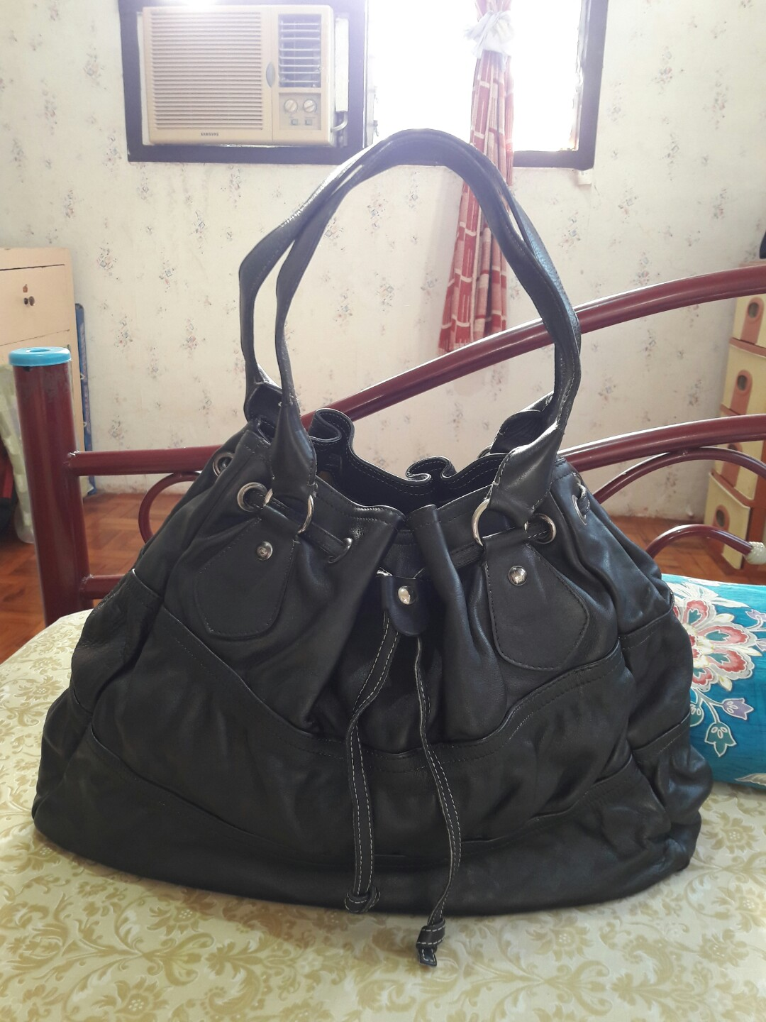 71a1ac25b4de Authentic Cavalcanti Made in Italy Genuine Leather Drawstring Black ...