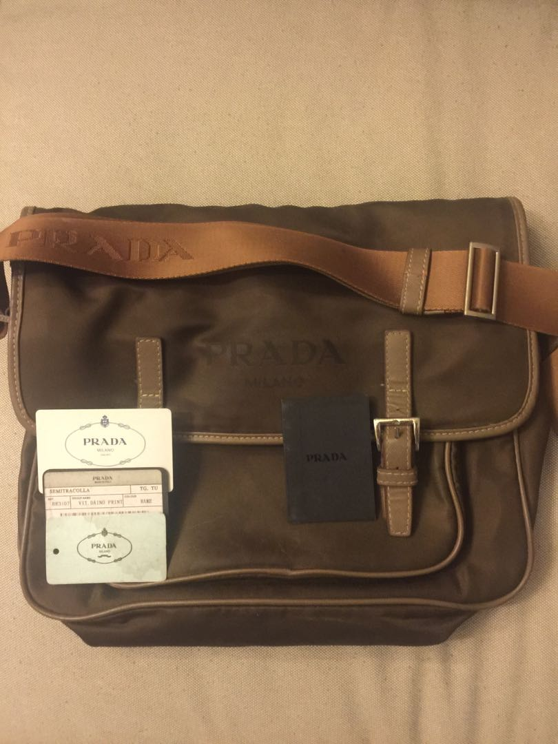 72909f374913 Authentic Prada bag for men