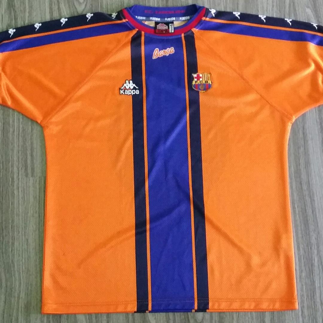 free shipping f57dd 00a94 Barcelona Kappa 1997-98 Away Jersey XXL 2XL Vintage Retro