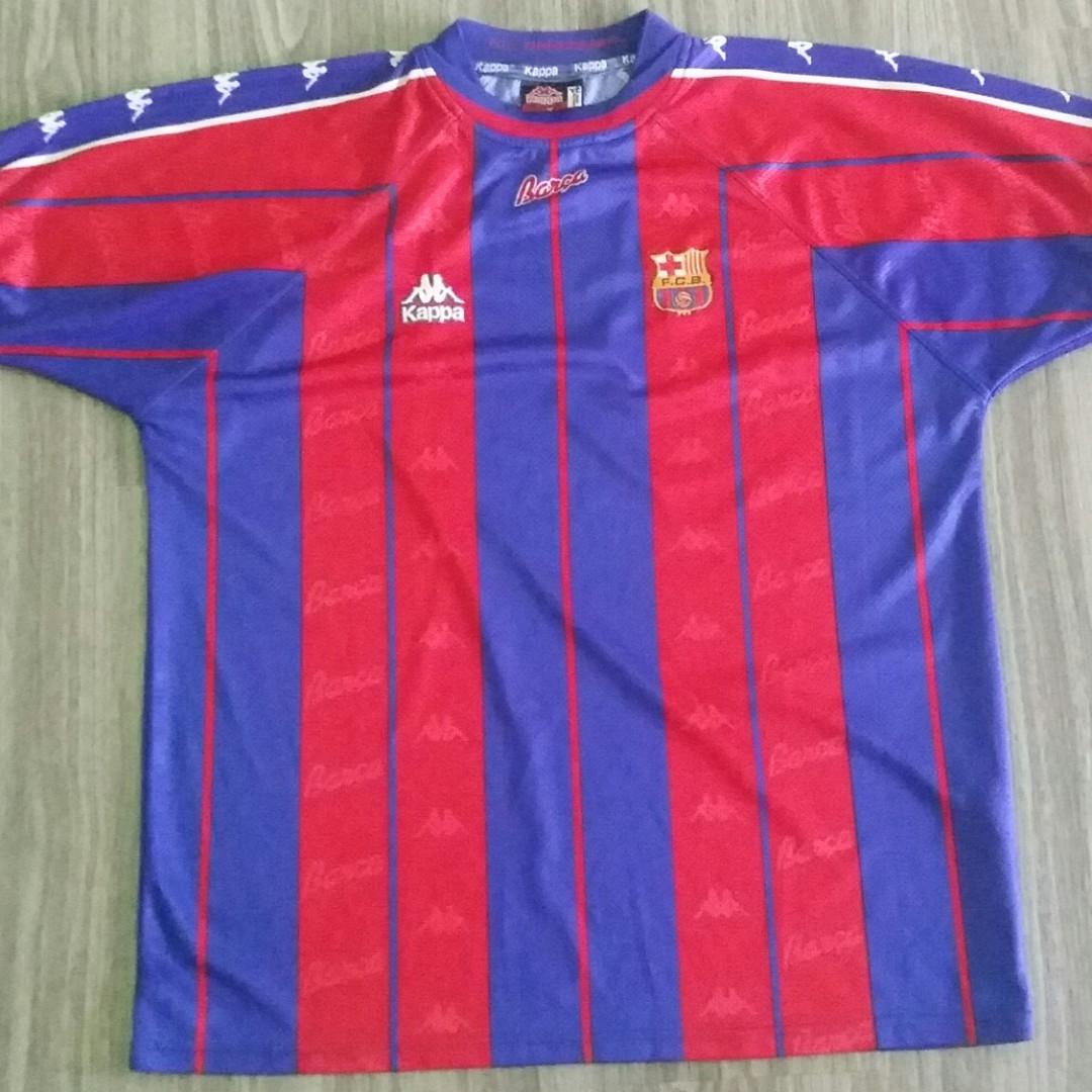 fd75314b071edd Barcelona Kappa 1997-98 Home Jersey XXL 2XL Vintage Retro, Sports ...