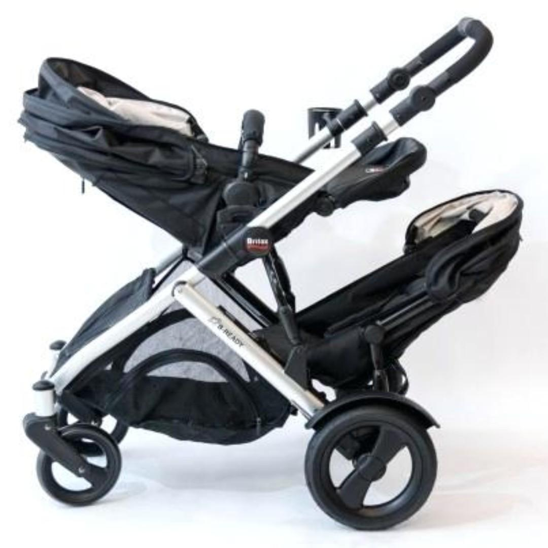Britax B Ready Double Twin Inline Infant Stroller Car Seat New