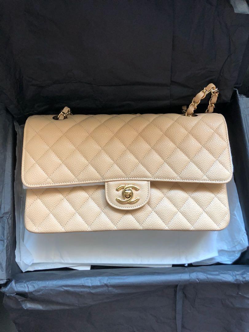 7b8d26d21f76 Chanel medium classic double flap 2.55, Luxury, Bags & Wallets, Handbags on  Carousell
