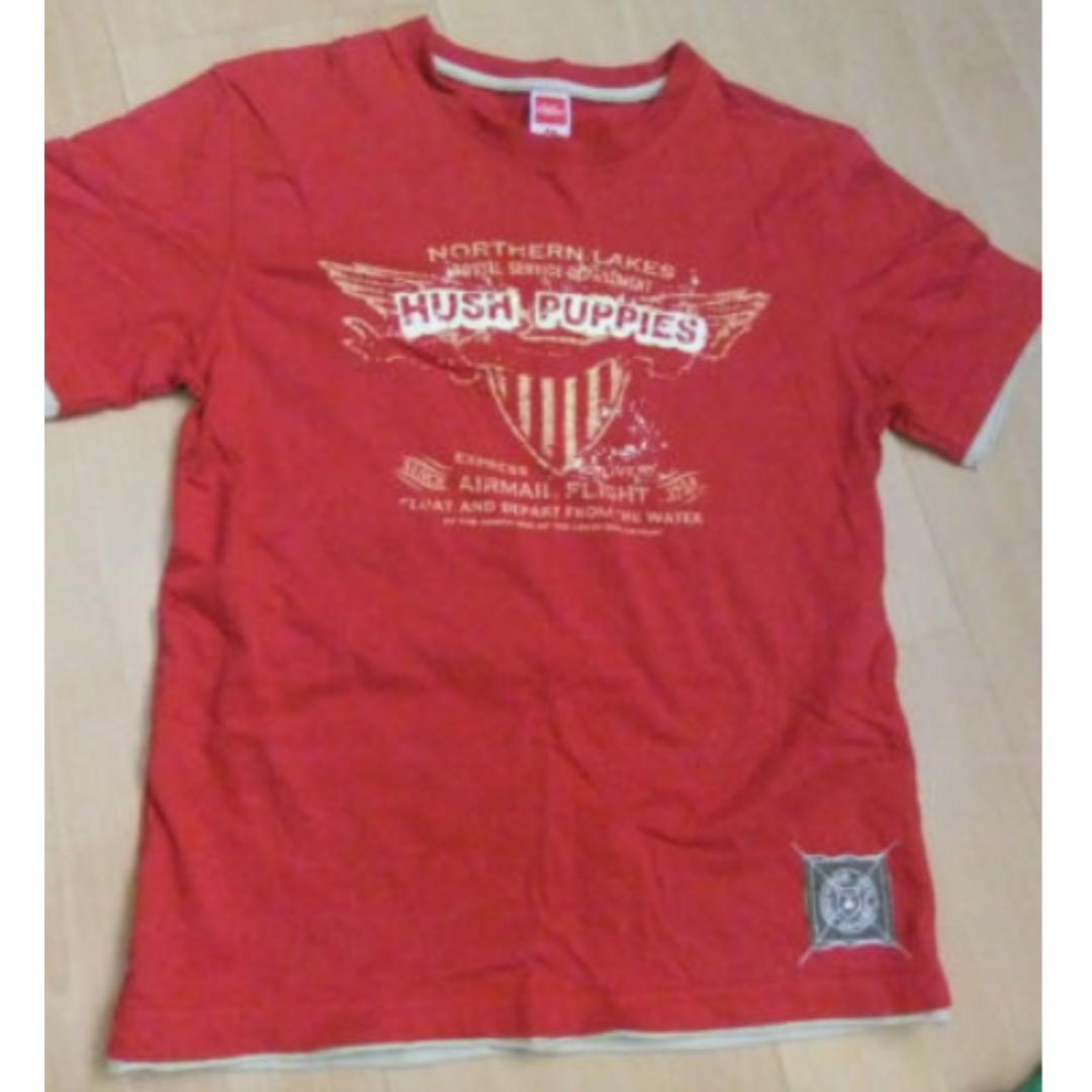 58e283517c03 Children Red Hush Puppies T Shirt, Babies & Kids, Boys' Apparel, 4 ...