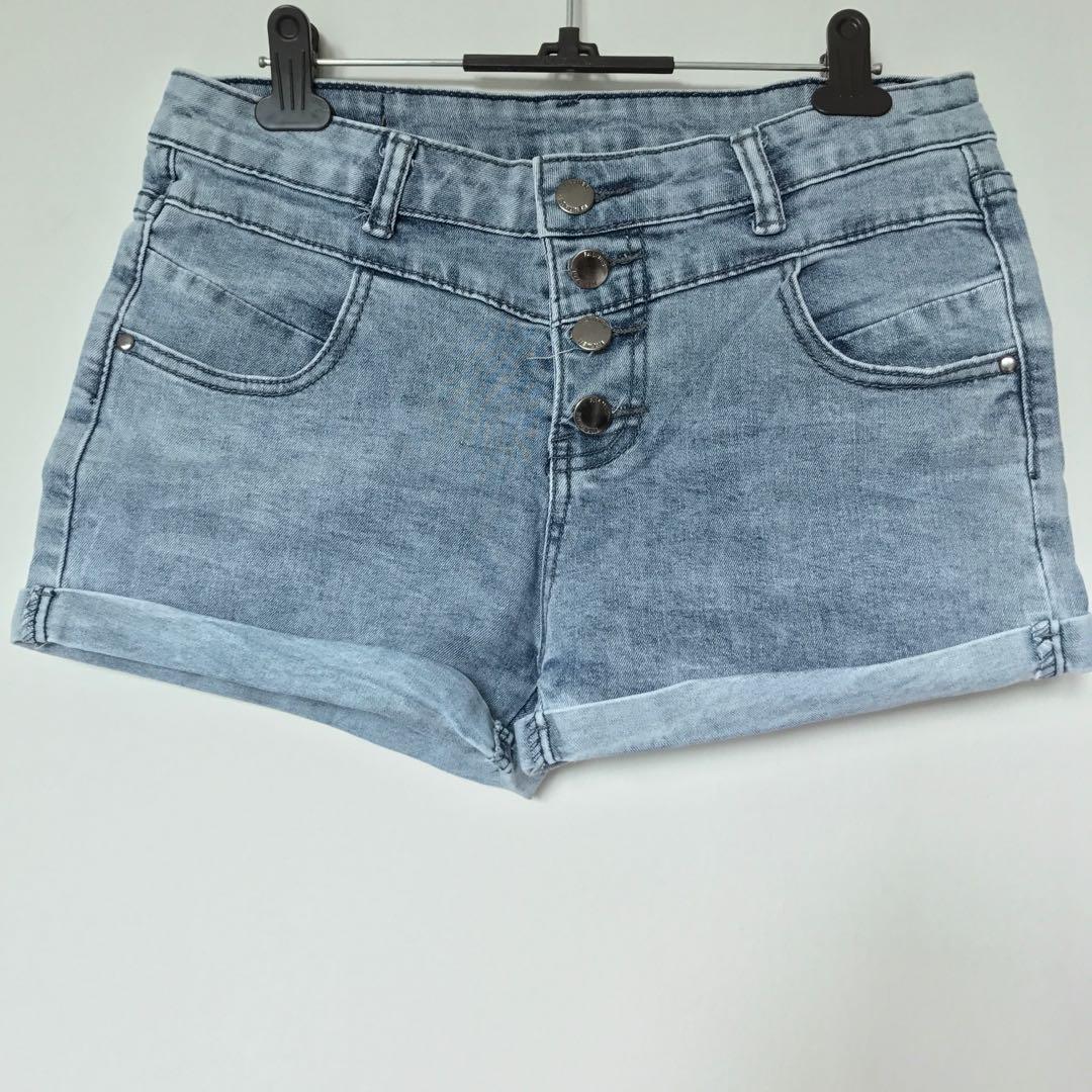 4394d515f7 Denim Button Up Shorts, Women's Fashion, Clothes, Pants, Jeans ...