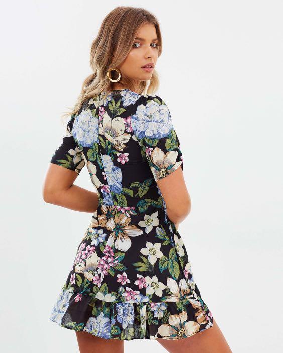 Floral Plunge Dress
