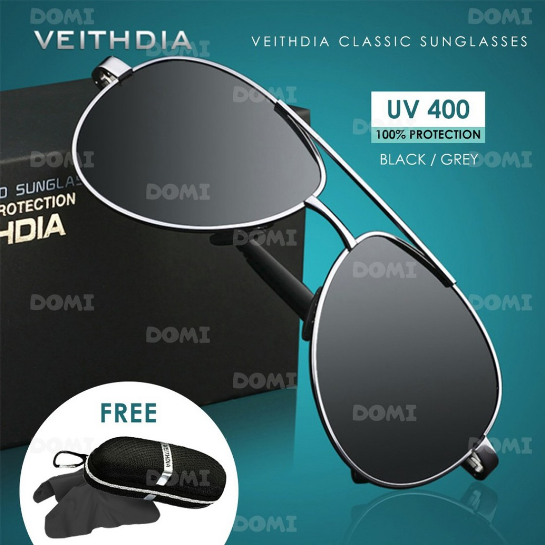 1a9dc482d8 FREE SHIPPING VEITHDIA Aviator Classic Alloy Frame UV400 Polarized ...