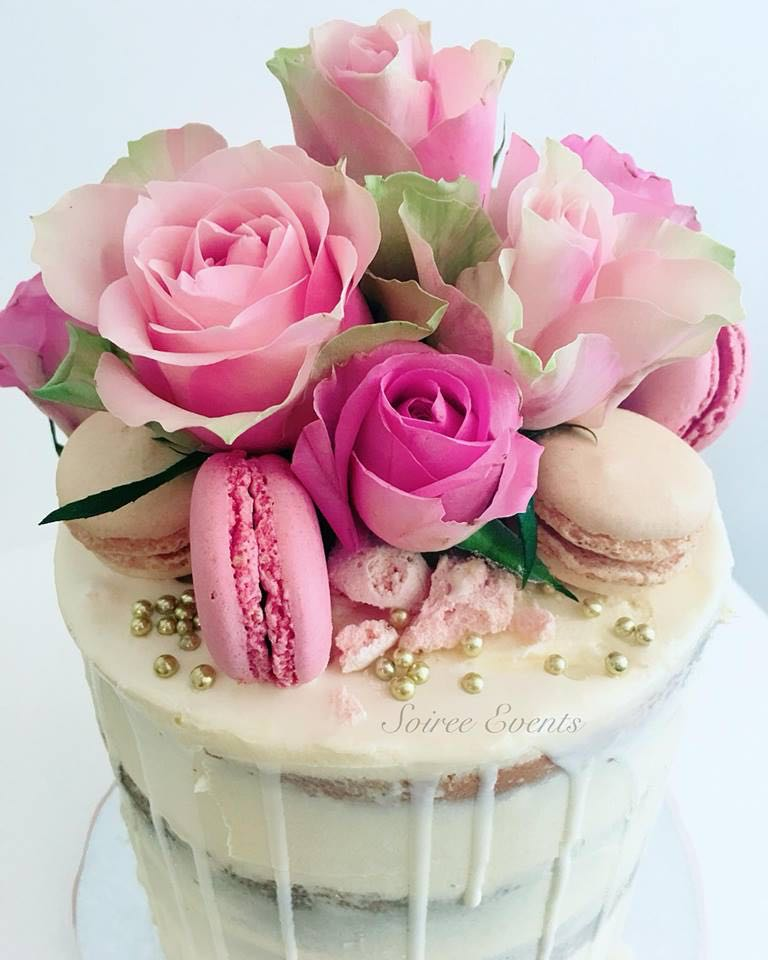 Fresh Flowers Cake Floral Buttercream Birthday Celebration