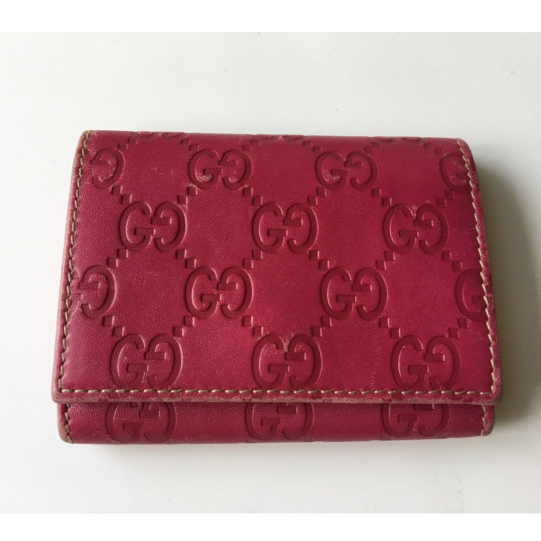 the latest a92c9 90b09 Gucci Cardholder - Deep Pink