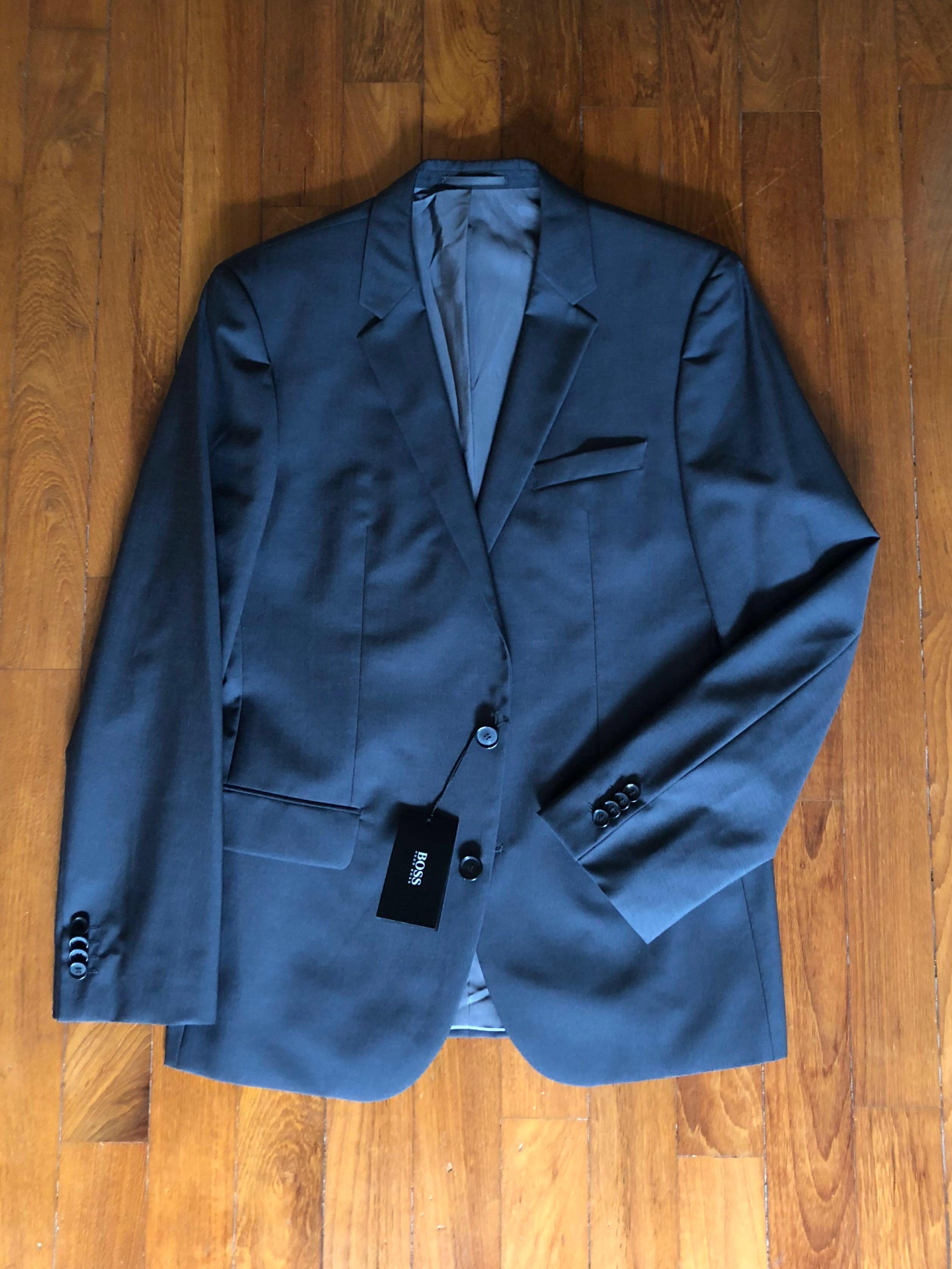 1b132e75 Hugo Boss Men's Dark Grey Two Button Suit *Price Reduced!*, Men's ...