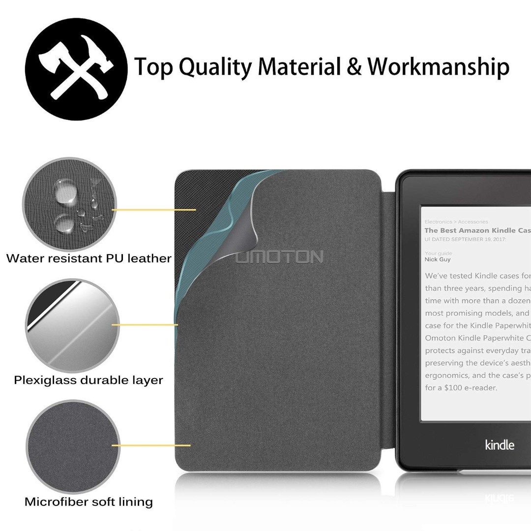 [IN-STOCK] OMOTON Kindle Paperwhite Case (10th Generation-2018), Smart  Shell Cover with Auto Sleep Wake Feature for Kindle Paperwhite 10th Gen  2018