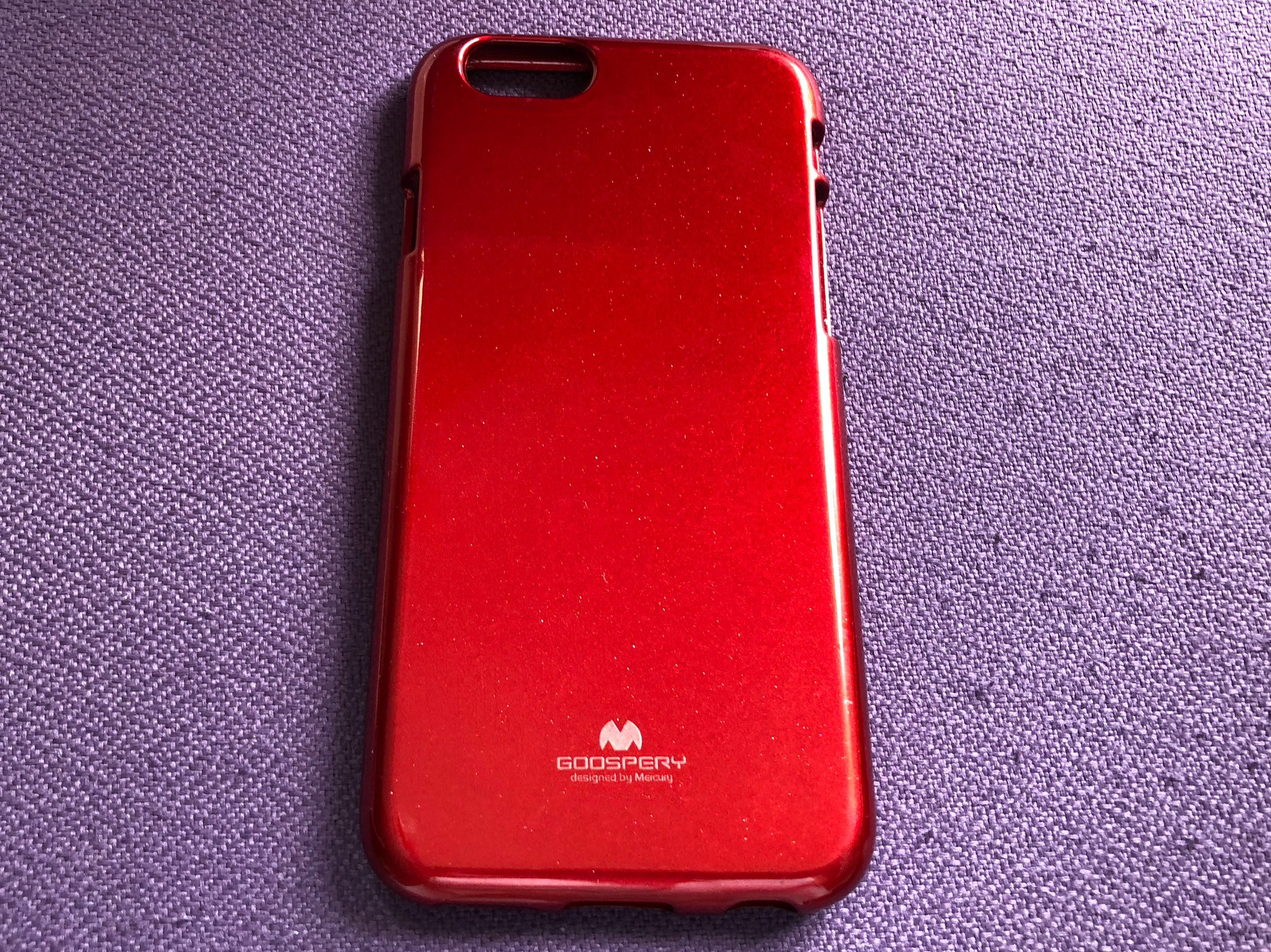 iPhone 6S Mercury Goospery Red Soft Jelly Case Cover, Mobile