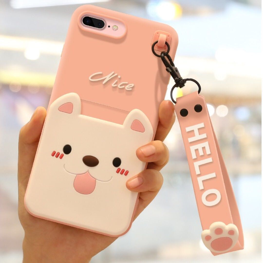 official photos fd609 a5b33 iPhone Case w/ Card Holder & Wrist Strap - Puppy