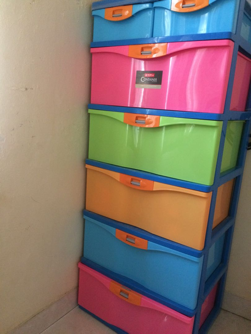 Jambi only lemari laci drawer plastik lion star home furniture on carousell
