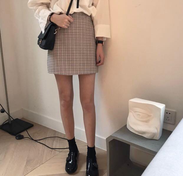 e6eeead539 Korean plaid skirt, Women's Fashion, Clothes, Dresses & Skirts on ...
