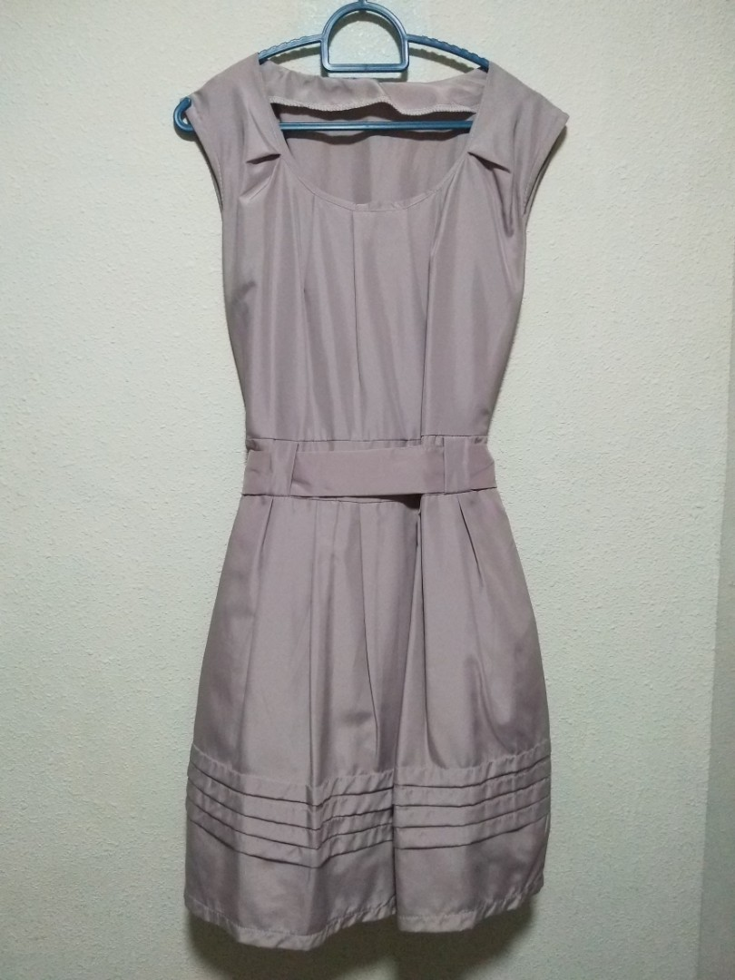 d1e996726 Lavender office work dress with ribbon cheap sale, Women's Fashion, Clothes,  Dresses & Skirts on Carousell