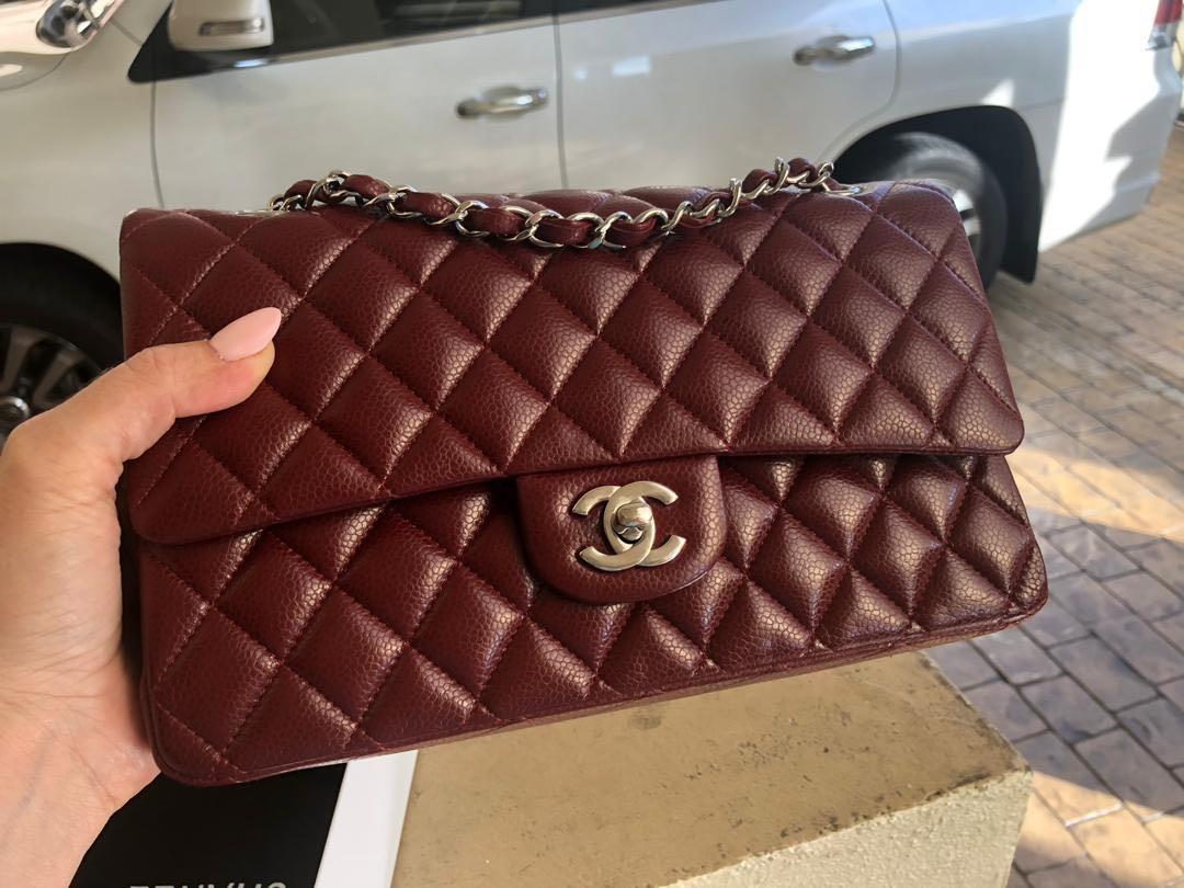 16eda8c4ad82 LNIB Chanel Classic Medium Burgundy with SHW., Luxury, Bags ...