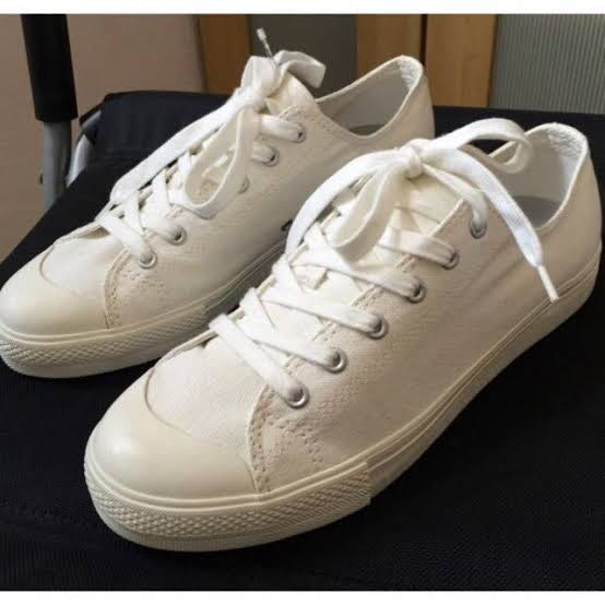 Muji Off-White Canvas Sneakers, Men's