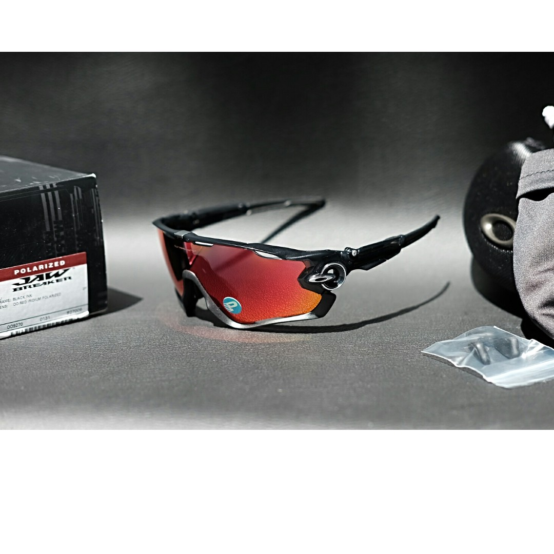 Original kacamata Oakley jawbreaker black ink oo red iridium polarize 72d6825601