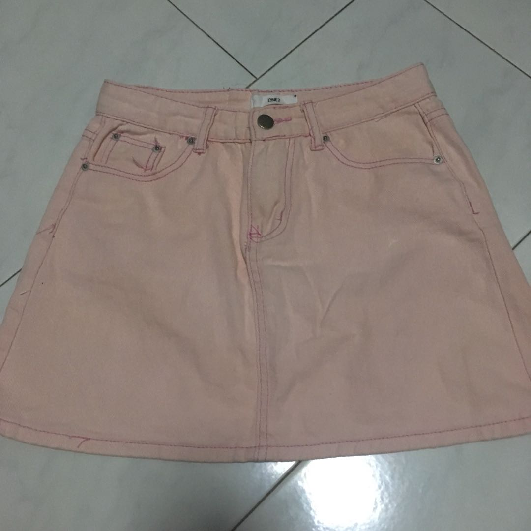283ab06be4 Pink Denim Skirt, Women's Fashion, Clothes, Dresses & Skirts on ...