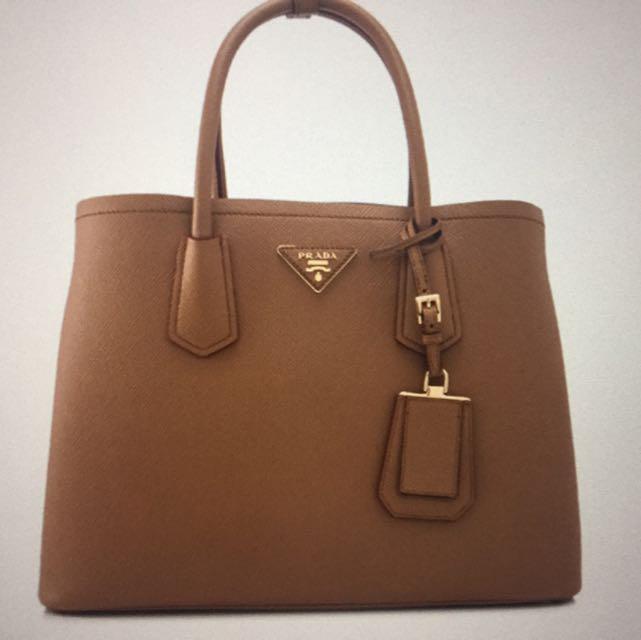 138e412ec43b Prada Saffiano Cuir Double Bag 34cm