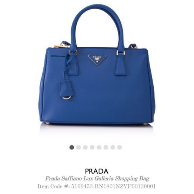 2236d879740f68 ... best price reduced authentic preloved prada saffiano lux double zip tote  galleria shopping bag bn1801 in ...