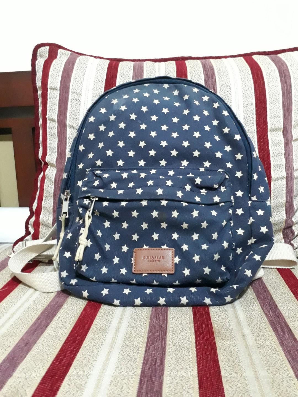 cfb707b92f6e Pull   Bear Ransel   Backpack   Bag - Navy   Star