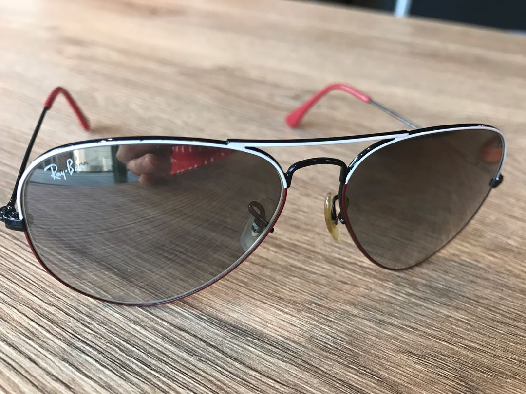 b7b9c1a32c6 Ray Bans (white and red frame)