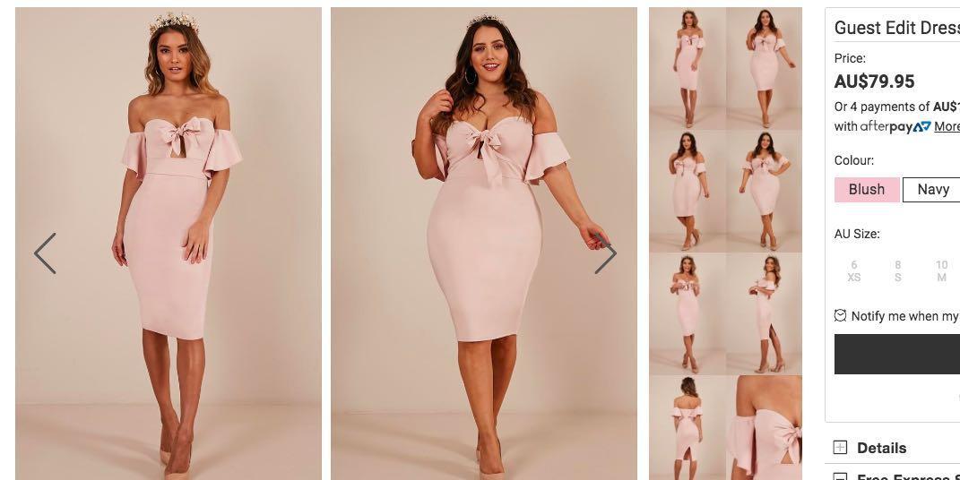 Showpo Guest Edit Dress in Blush
