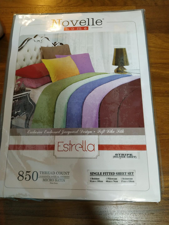 Single Fitted Sheet Set Novelle Bedsheet Furniture Beds Mattresses On Carousell