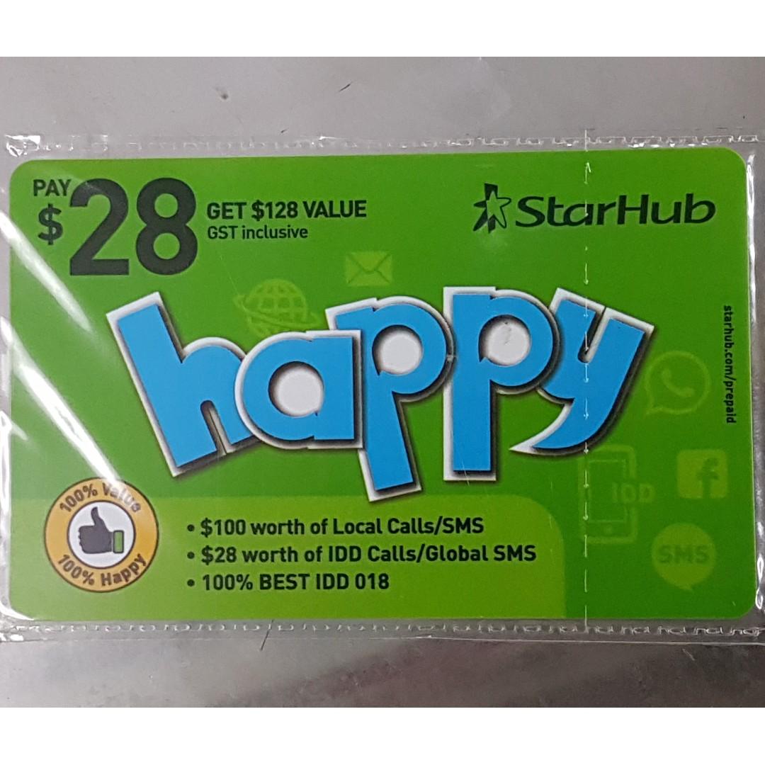 Starhub Prepaid Top-Up Card $28 (Happy$128)