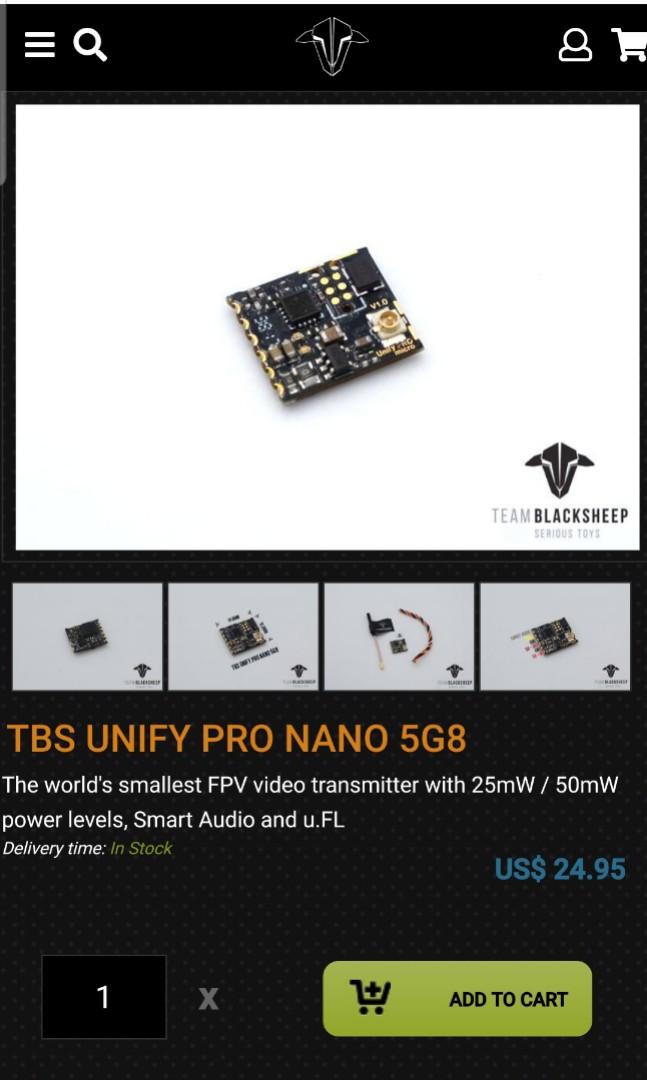 Team blacksheep unify pro nano 5G8