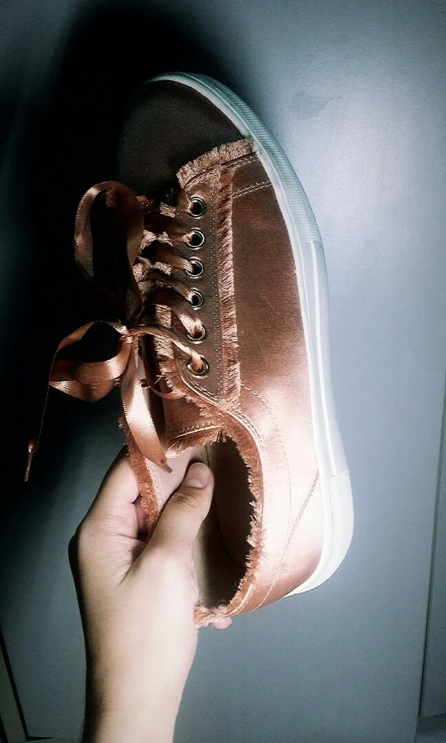 Topshop rose gold sneaker