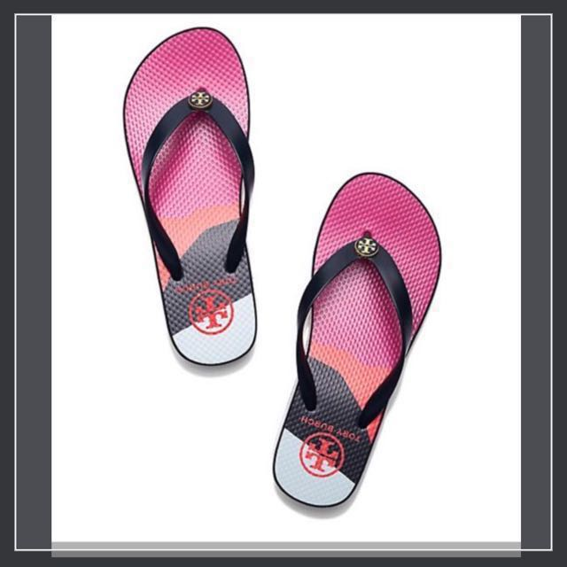 aabbcf220 Tory Burch Classic Wedge Flip-Flop (Authentic)
