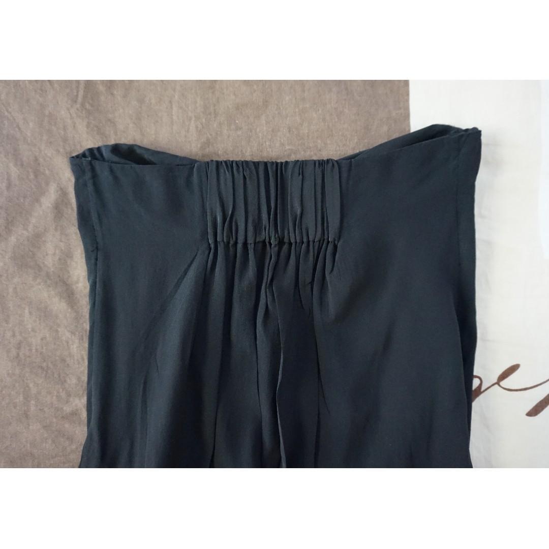 Zimmermann Black Strapless Silk Dress w/ Lattice Detail Size 2 RRP $350.00