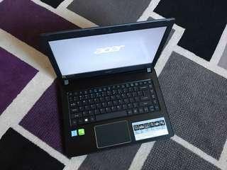 Acer Aspire E5-475G Core i5 Kabylake  4GB 1TB NVIDIA 940Mx 14inch LED Win10