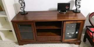 Balinese design teak wood tv console